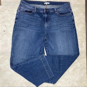 Eileen Fisher Cropped Ankle Jeans Size 14